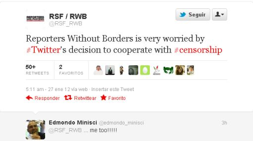 #CensuraTwitter: la red social recibe críticas por bloqueo de contenidos