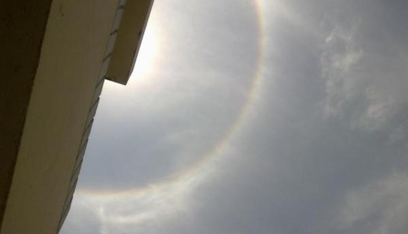 Imágenes del halo solar que sorprendió en el cielo de Lima