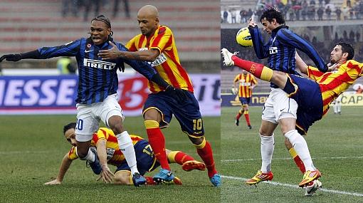 Inter cayó ante el Lecce y ahora está a nueve puntos de la Juventus
