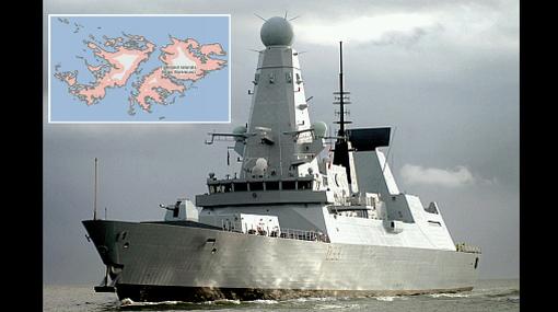 Reino Unido envía su barco de guerra más moderno a las Malvinas