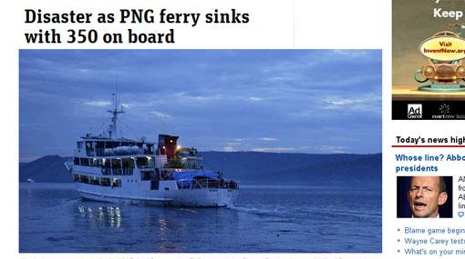 Barco con 350 pasajeros se hundió en Nueva Zelanda