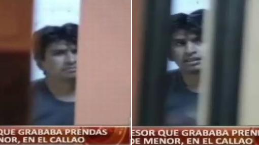 Este hombre fue detenido por grabar prendas íntimas de niñas menores
