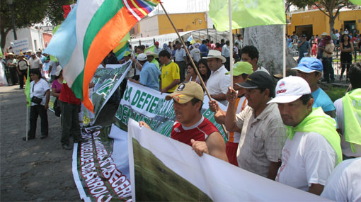 La marcha del agua parte hoy hacia Chimbote