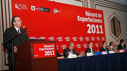 Exportaciones peruanas alcanzaron récord de US$45.726 mlls en el 2011