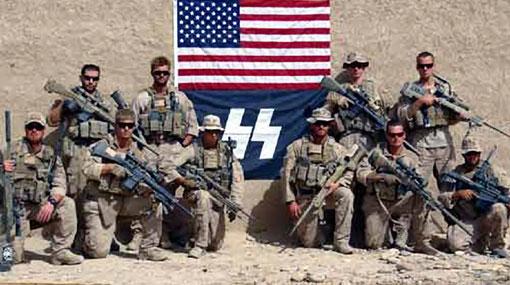 Marines de EE.UU. posaron con símbolo nazi en Afganistán