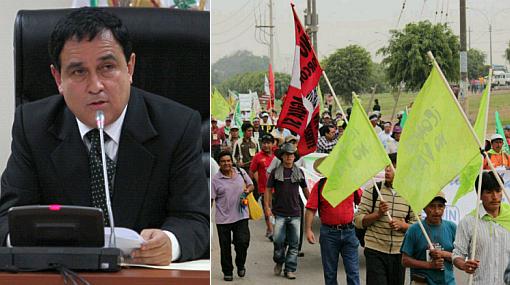 Vocero humalista instó a dirigentes de Marcha del Agua a participar en debate técnico