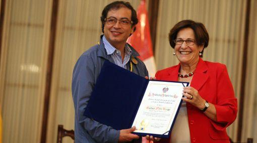 Alcaldesa Villarán y alcalde de Bogotá acuerdan cooperación entre ciudades