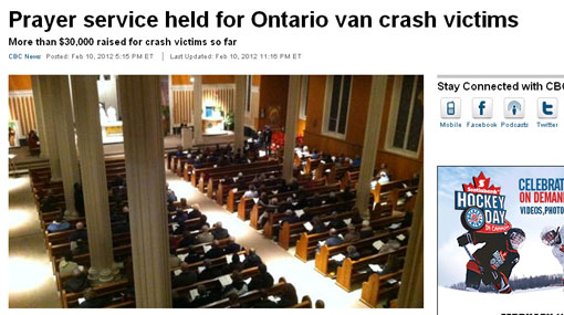 Cientos recordaron en Canadá a los peruanos fallecidos en accidente