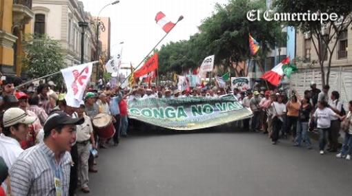 Dirigentes cajamarquinos rechazan el apoyo de Movadef a lucha por el agua