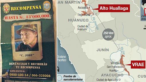 Facción senderista del VRAE desplazará a terroristas al Alto Huallaga
