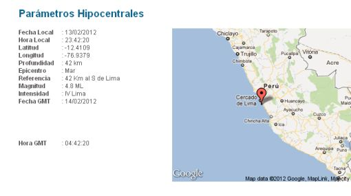 Un sismo de 4,8 grados Richter sacudió Lima esta noche
