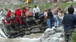 Otuzco: un muerto y tres heridos dejó caída de camión a abismo - Noticias de