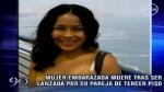 Discusión fatal: mujer cayó con su pareja desde un tercer piso - Noticias de lidia mendoza riquez