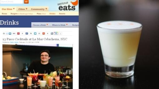 Restaurante de Gastón Acurio en Nueva York le rinde tributo al pisco