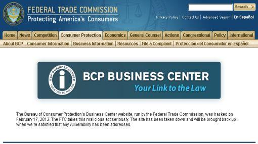 Anonymous bloqueó páginas de la Comisión Federal de Comercio de EE.UU.