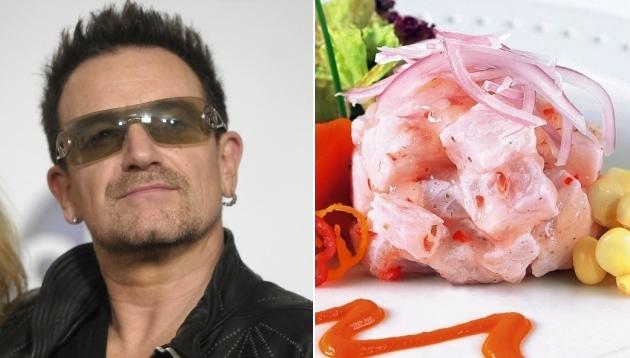 ¿Qué comerá Bono Vox durante su visita a Perú?