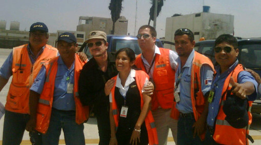 Esta es la primera imagen de Bono Vox en el Perú