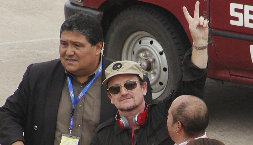 Bono en el Perú: imágenes de la llegada del líder de U2 al Cusco