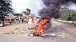 Tumbes: turistas siguen varados por bloqueo de Panamericana Norte - Noticias de abel gamarra malpartida