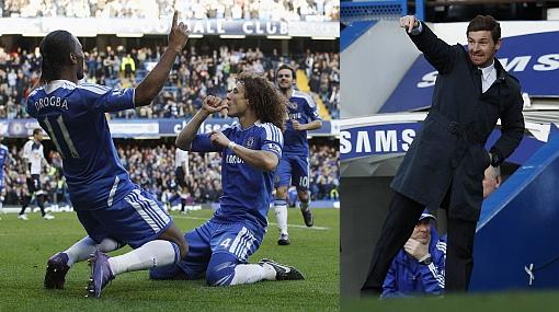 Chelsea goleó 3-0 al Bolton y alivió tensión sobre el DT Villas-Boas