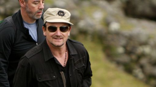 Bono Vox dejó Machu Picchu para dirigirse a Ollantaytambo