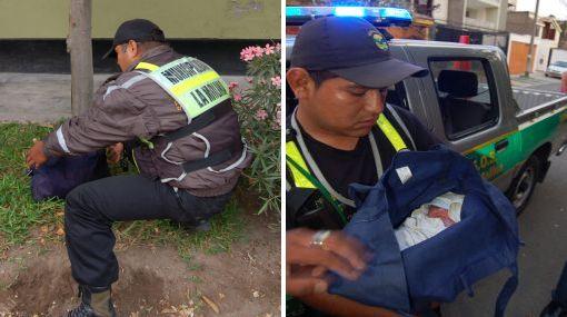Bebe recién nacida fue abandonada en calle de La Molina