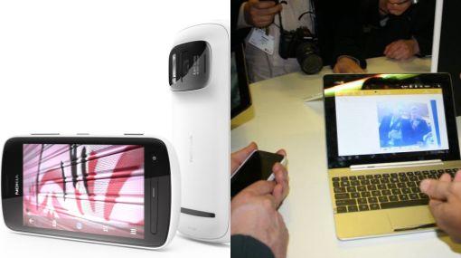 Un celular con cámara de 41 megapíxeles y una tableta que también es smartphone