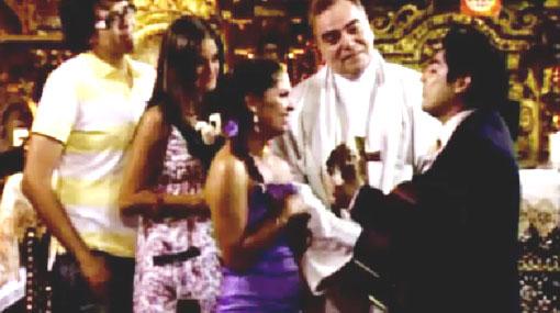 """""""Al fondo hay sitio"""": 'Joel' le cantó a 'Fernanda' en su matrimonio"""