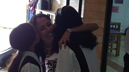 Nadine Heredia mostró una foto del primer día de colegio de sus hijas