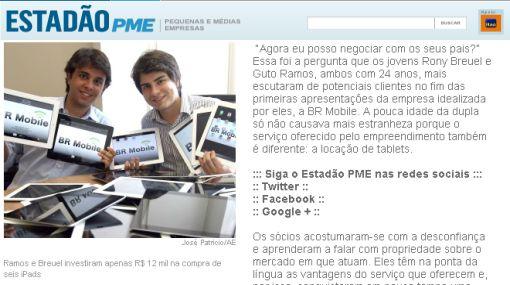 Brasil: jóvenes ganan más de medio millón de dólares alquilando tabletas