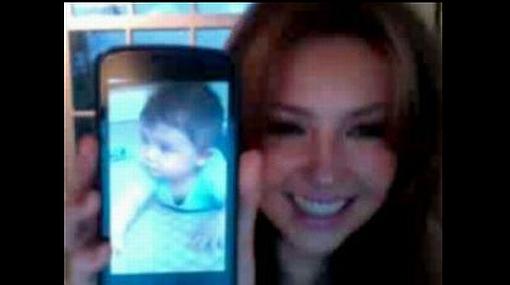 Thalía publicó en Twitter una tierna foto de su segundo hijo
