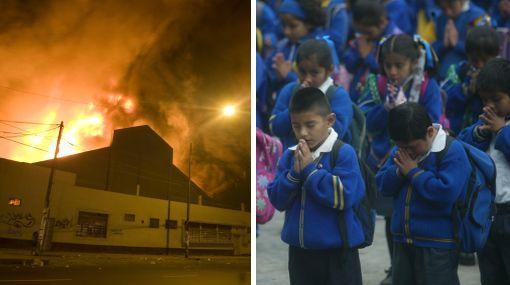 """Unicef sobre incendio: """"Los grandes perjudicados son los escolares"""""""