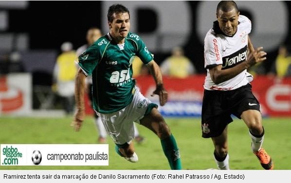 'Cachito' Ramírez jugó en empate 1-1 de Corinthians ante Guaraní