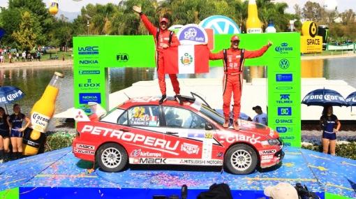 Nicolás Fuchs terminó segundo en el Rally de México
