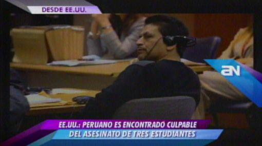 Peruano fue condenado a 155 años de cárcel por asesinatos en EE.UU.