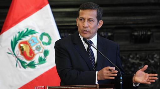 Aprobación de Humala cayó seis puntos un mes