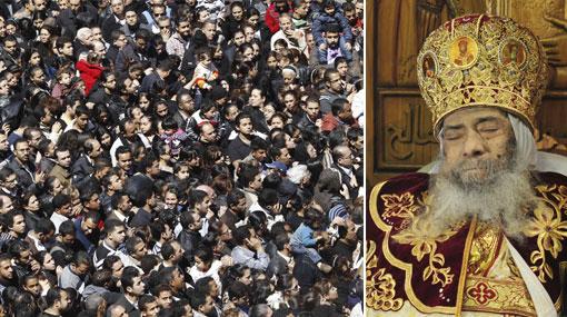 Egipto: el velorio del Papa copto dejó tres muertos y 40 heridos