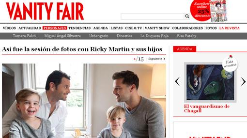 Ricky Martin posó por primera vez con su novio e hijos
