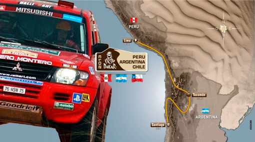 Descarga la ruta del Rally Dakar 2013