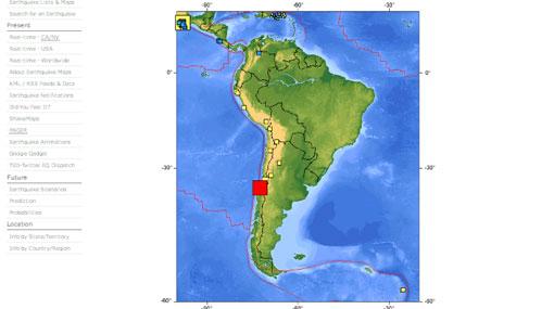 Sismo de 6,8 grados remeció la zona central de Chile