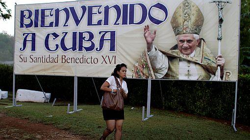 El Papa Benedicto XVI llegará hoy a Cuba en medio de gran expectativa