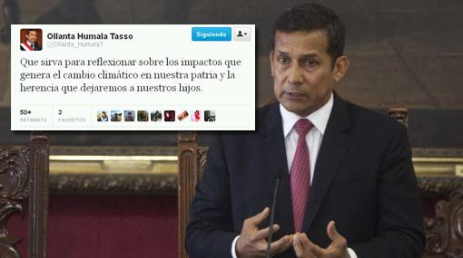 Ollanta Humala saludó apagón simbólico por La Hora del Planeta