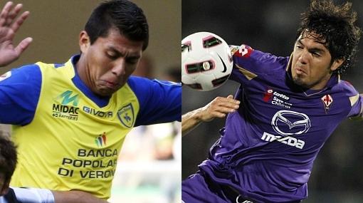 Cruzado le ganó a Vargas: Fiorentina cayó 2-1 y puede descender