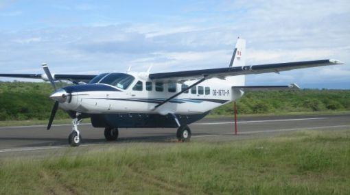 Turistas japoneses pasaron susto durante aterrizaje de avioneta en Nasca