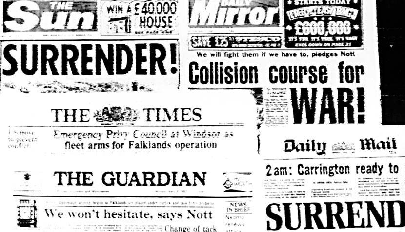 FOTOS: así informaron los medios del mundo sobre el inicio de la Guerra de las Malvinas