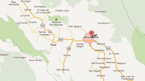 Sismo de 4,6 grados Richter se produjo en Moyobamba