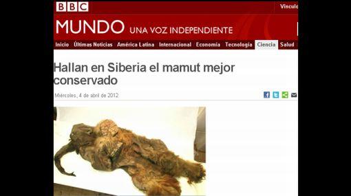Mamut que habría vivido hace 10.000 años fue encontrado en Siberia