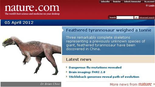 El mayor dinosaurio plumífero que existió en el mundo fue hallado en China