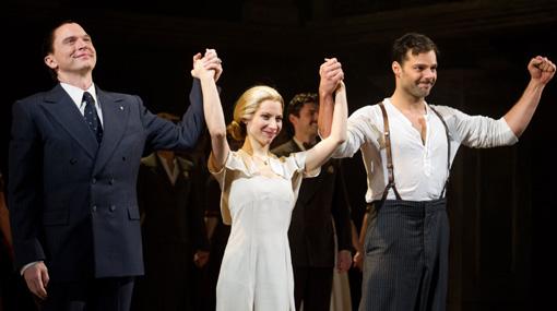 Marco Zunino asistió al estreno del musical de Ricky Martin en Broadway