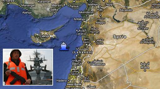 Barco de guerra ruso patrulla las costas de Siria